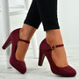 Aurora Prune Block Heel Pumps