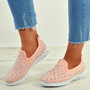 Danielle Pink Studded Trainers