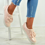 Elyse Pink Bow Slip On Trainers