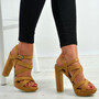 Abby Camel Platform Sandals