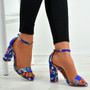 Justice Blue Floral Sandals
