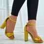 Karlee Yellow Bow Heeled Sandals
