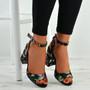 Marilyn Black Floral Sandals