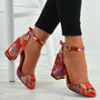 Marilyn Red Floral Sandals
