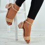 Kaylen Pink Mid Heeled Sandals