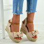 Tatum Pink Wedge Platform Sandals
