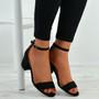 Olivia Black Ankle Strap Sandals