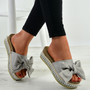 Alanya Grey Pearl Flatform Sandals