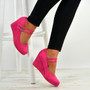 Eliana Fuchsia Wedge Pumps