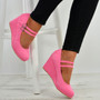 Eliana Pink Wedge Pumps