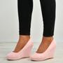 Elsa Light Pink Slip On Pumps