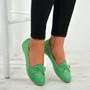 Kelsie Green Slip On Ballerina