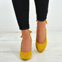 Alisa Yellow Sling Back Pumps
