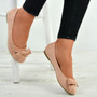 Priscilla Pink Suede Ballerinas