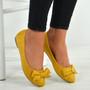 Priscilla Yellow Suede Ballerinas