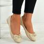 Priscilla Beige Patent Ballerinas