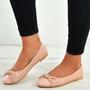 Priscilla Pink Patent Ballerinas