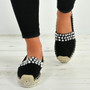 Cadence Black Diamante Flats