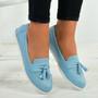 Eva Blue Fringe Ballerina