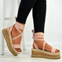 Yasmin Pink Ankle Wrap Sandals