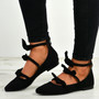 Amaris Black Bow Ballerinas