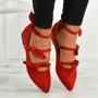 Amaris Red Bow Ballerinas