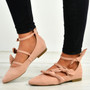 Amaris Pink Bow Ballerinas