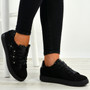 Alanna Black Side Flower Trainers