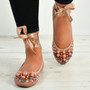 Janiyah Pink Ankle Wrap Flats