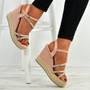 Katelyn Pink Wedge Platforms