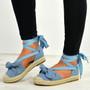 Imani Blue Bow Espadrilles