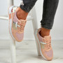 Laila Pink Mesh Trainers