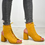 Mya Yellow Lace Up Sandals