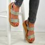 Annie Grey Ankle Strap Platform Sandals