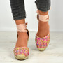 Taniyah Pink Ankle Wrap Pumps