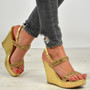 Harmony Gold Studded Wedges
