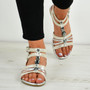 Jocelyn Silver Flat Sandals