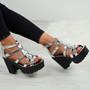 Lana Silver Patent Sandals