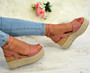Makena Blush Pink Wedge Flatform Sandals