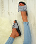 Kenna Black/White Bow Sliders