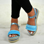 Lya Blue Flatform Sandals