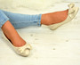 Joselyn Beige Pearl Ballerina