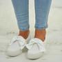 Asya White Bow Sneakers