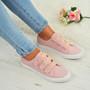 Kayla Pink Glitter Plimsolls