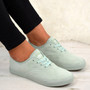 Ximena Green Lace Up Trainers