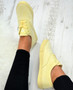 Ximena Yellow Lace Up Trainers