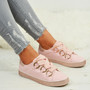 Brittany Pink Glitter Sparkle Trainers