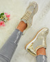 Mariam Gold Wedge Trainers