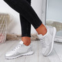 Rhaela Silver Glitter Trainers