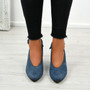 Nikka Blue Bow Pumps